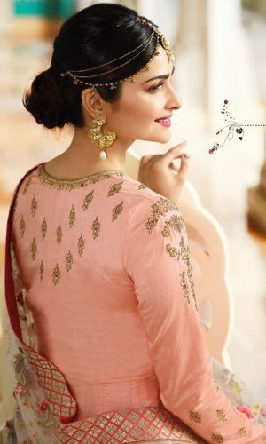 Peach Color Georgette Anarkali Suit