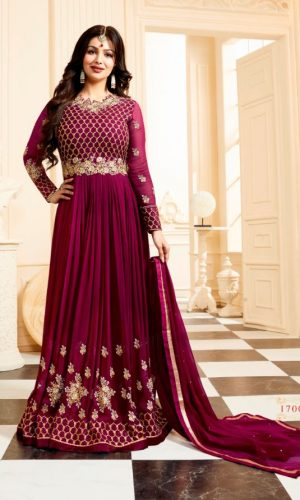 Majanta Colored Gorgeous Anarkali Suit
