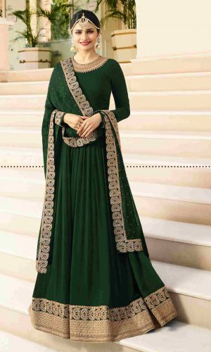 Stunning Green Georgette Anarkali suit