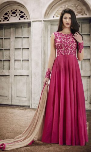 Rani Faux Georgette Anarkali Suit