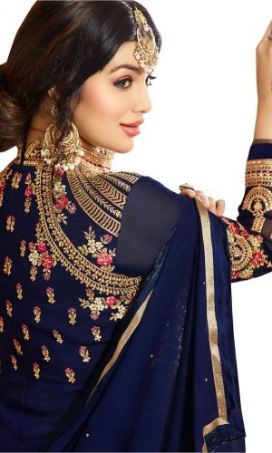 Ayesh Designer Anarkali Blue Suit